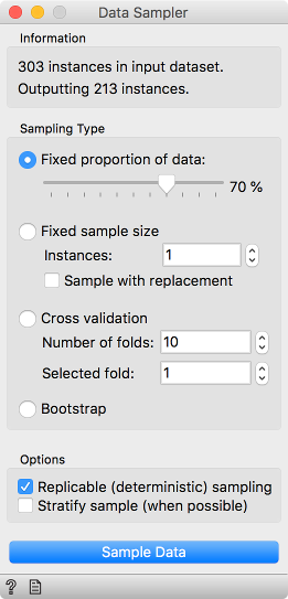 Make sure to check replicable sampling to get the same results as here.