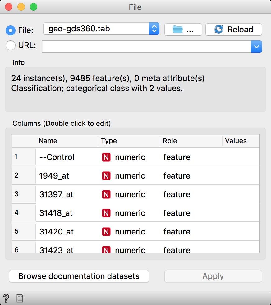 Orange – 'Python Script: Managing Data on the Fly' Data