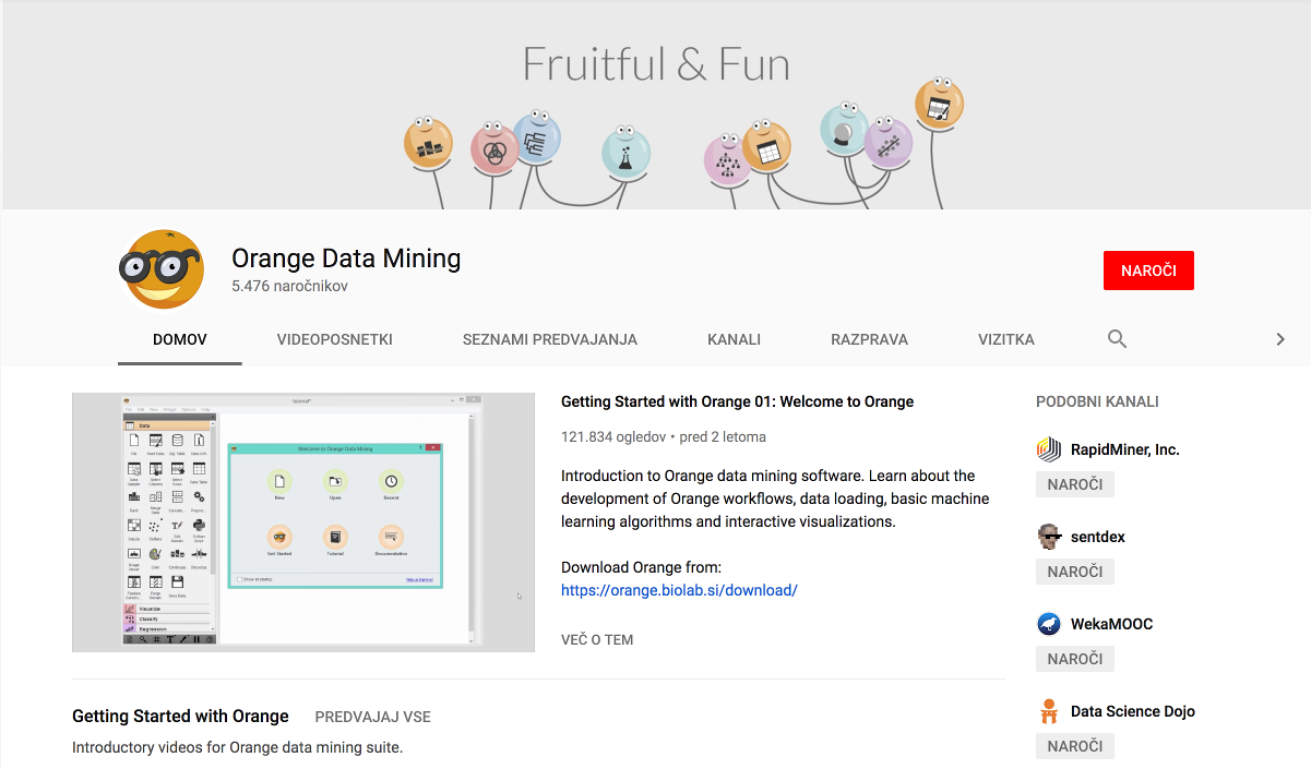 Orange – Getting started Data Mining Fruitful and Fun