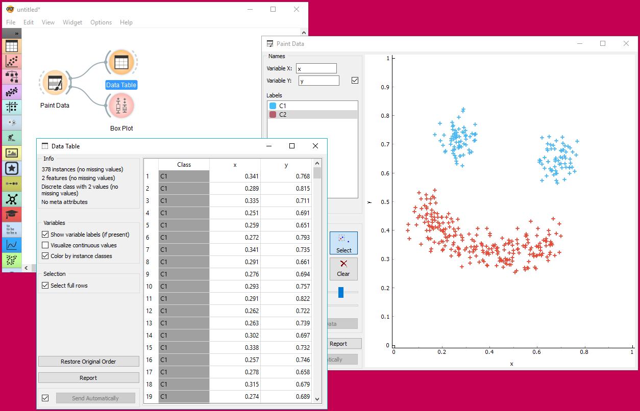 Orange – Screenshots Data Mining Fruitful and Fun